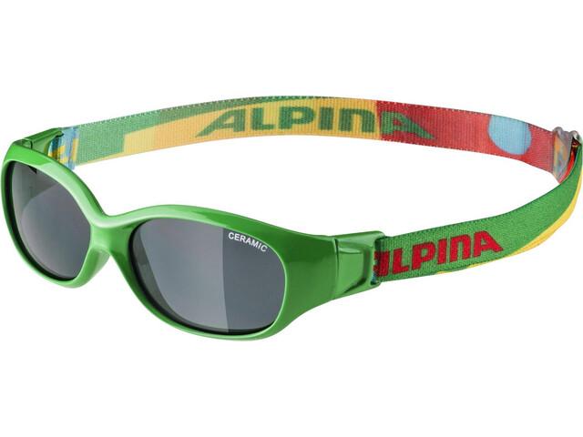 e66c41b2bd ... Alpina Sports Flexxy - Gafas ciclismo Niños - verde/Multicolor. Alpina  ...